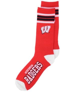 Wisconsin Badgers 4 Stripe Deuce Crew Socks