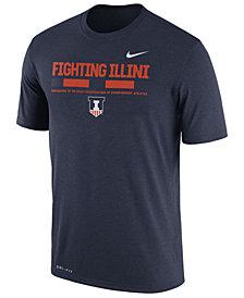 Nike Men's Illinois Fighting Illini Legend Staff Sideline T-Shirt