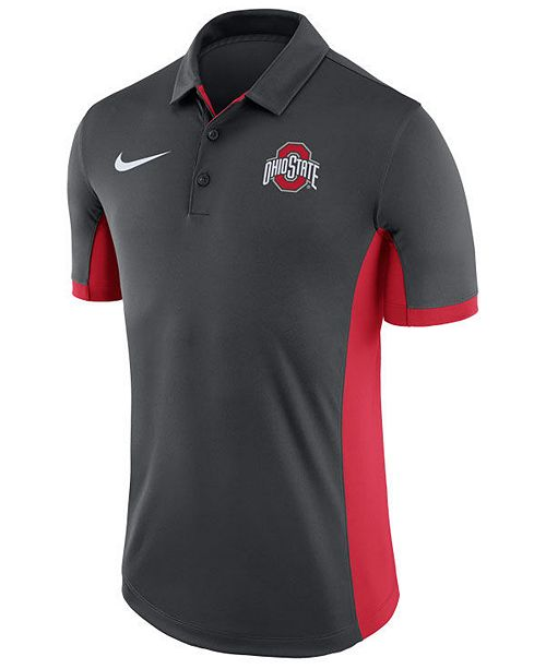 434ae4cf45a Nike Men s Ohio State Buckeyes Evergreen Polo - Sports Fan Shop By ...
