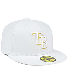 New Era Tampa Bay Rays White On Metallic 59FIFTY Cap