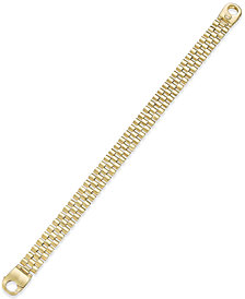 Men's Link Bracelet in 14k Gold-Plated Sterling Silver