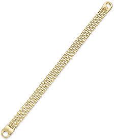 Men's Link Bracelet in 14k Gold-Plated Sterling Silver
