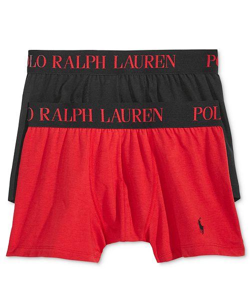 b3034421705 ... Polo Ralph Lauren Men's 2 Pack Ultra-Soft Cotton Comfort Blend Boxer  Briefs ...