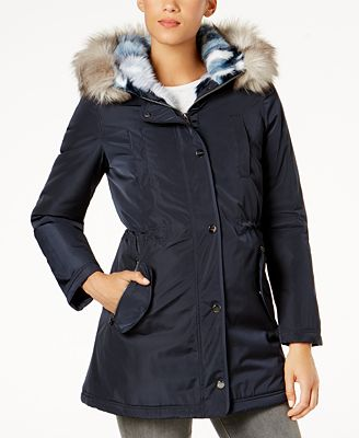 Laundry by Shelli Segal Faux-Fur-Lined Coat - Coats - Women - Macy's