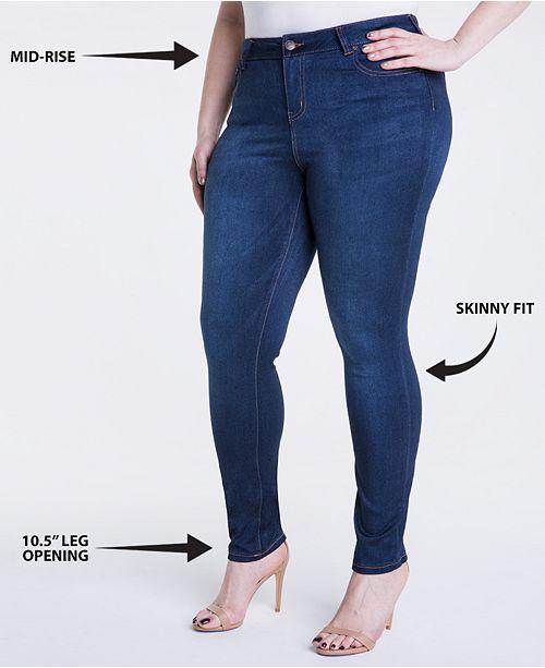 30ec5d6adc789 Celebrity Pink Trendy Plus   Petite Plus Size Super-Soft Walker Skinny Jeans  ...