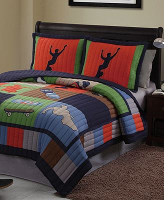 Laura Hart Kids' Cool Skate Reversible Quilt Sets