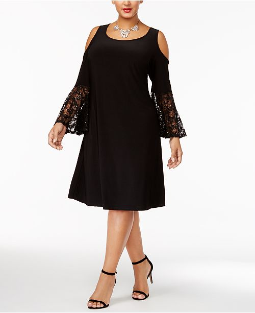 Plus Size Cold-Shoulder Dress