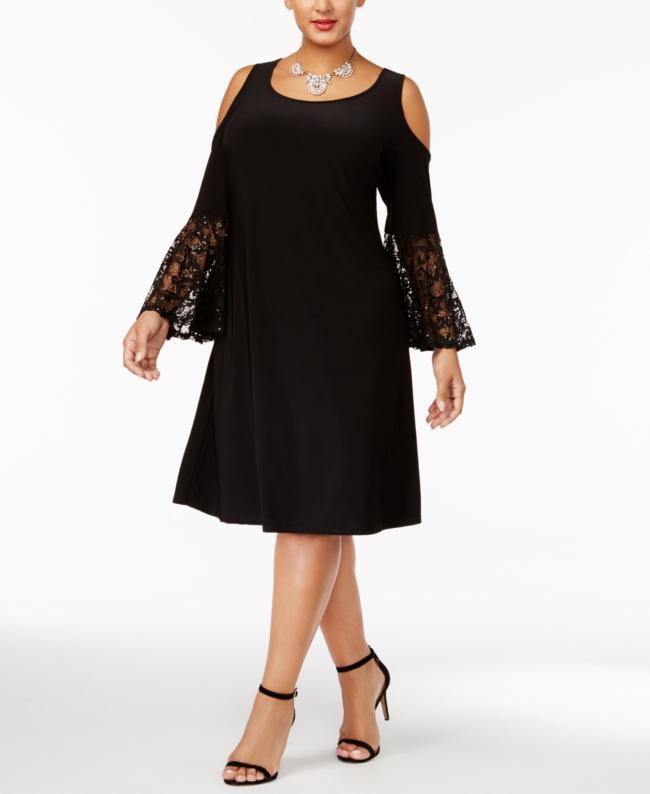 R M Richards Plus Cold Shoulder Dress | Clothing