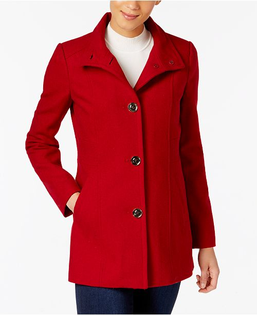 special price for modern techniques convenience goods INC International Concepts I.N.C. Stand-Collar Peacoat ...