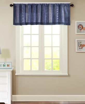 "Oliver 50"" x 18"" Cotton Window Valance"