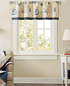 "Madison Park Bayside 50"" x 18"" Cotton Window Valance"