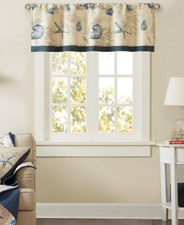 "Madison Park - Bayside 50"" x 18"" Cotton Window Valance"