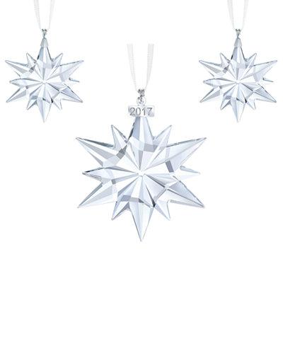 Swarovski 2017 Snowflake Christmas Ornaments Set of 3  Holiday