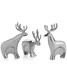 Nambé Dasher Reindeer Figurines, Set of 3