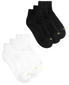 HUE® Women's Quarter Top 6 Pack Socks