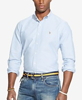 1e8d5f33 Polo Ralph Lauren Men's Classic Fit Long Sleeve Solid Oxford Shirt