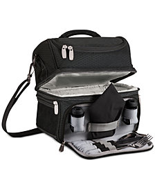 Picnic Time Black Pranzo Lunch Tote