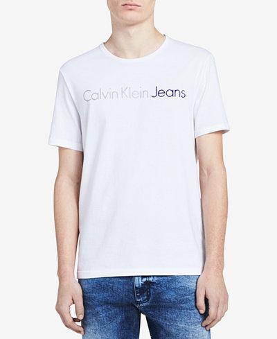 Calvin Klein Jeans Men's Big and Tall Classic Logo-Print T-Shirt