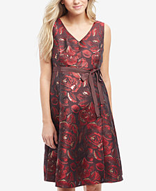 Motherhood Maternity Jacquard A-Line Dress