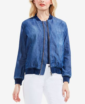 TWO by Vince Camuto Cotton Denim Bomber Jacket - Jackets - Women ...