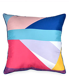 "Scribble Colorblocked 26"" Square Decorative Pillow"