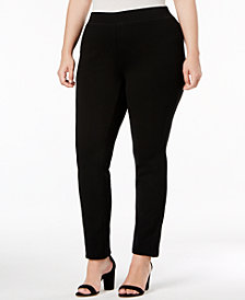 I.N.C. Plus Size Ponte Pull-On Skinny Pants, Created for Macy's