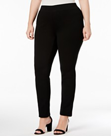 I.N.C. Plus Size and Petite Plus Ponte Pull-On Skinny Pants, Created for Macy's