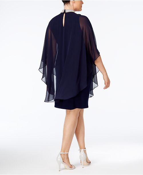 792ee3179f5 Xscape Plus Size Embellished Chiffon Overlay Dress - Photo Dress ...