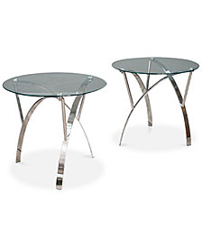 Zylan End Table Set Of 2, Quick Ship