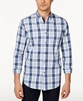 Club Room Mens Checked Shirt Created For Macys