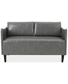 Norcia Faux Leather Loveseat, Quick Ship