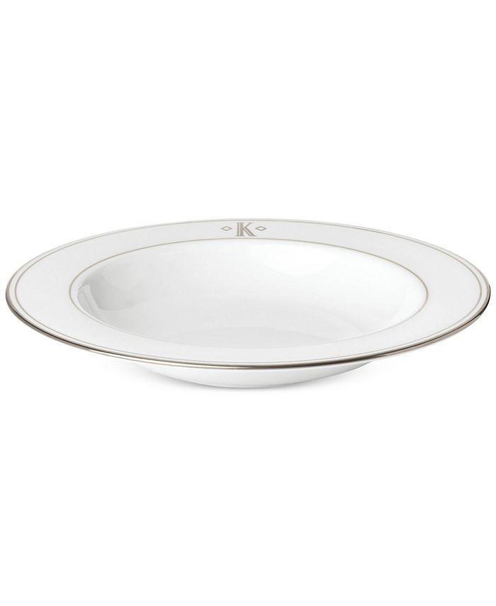 Lenox - Federal Platinum Monogram Block Pasta/Rim Soup Bowl