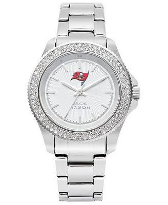 Jack Mason Women's Tampa Bay Buccaneers Glitz Sport Bracelet Watch