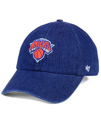'47 Brand New York Knicks All Denim CLEAN UP Cap