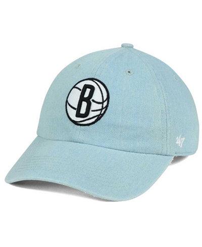 '47 Brand Brooklyn Nets All Denim CLEAN UP Cap