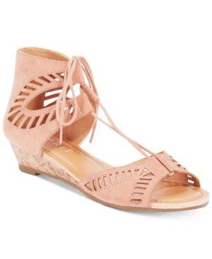 Esprit Carole Lace-Up Wedge Sandals