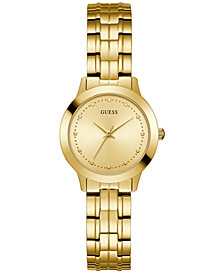 GUESS Women's Gold-Tone Stainless Steel Bracelet Watch 30mm