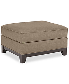 Keegan Fabric Ottoman - Custom Colors, Created for Macy's
