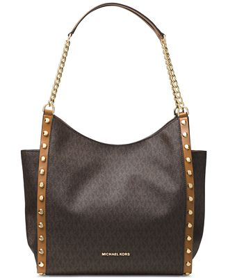 MICHAEL Michael Kors Signature Newbury Medium Chain Shoulder Bag