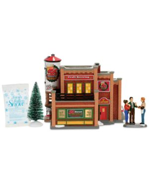 Department 56 Snow Village 56 Street Brewery Box Set 4827120