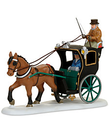 Department 56 Dicken's Village Holiday Cab Ride