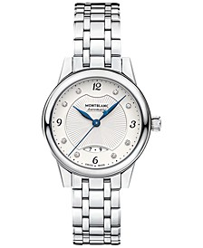 Women's Swiss Diamond-Accent Bohème Date Automatic Stainless Steel Bracelet Watch 28mm