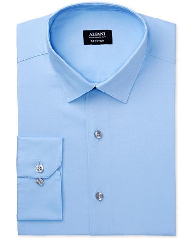 Alfani Regular Fit + Stretch Men's Dress Shirt, Created for Macy's