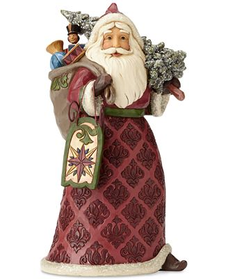 Jim Shore Victorian Santa With Tree, Sled & Bag Of Toys Figurine