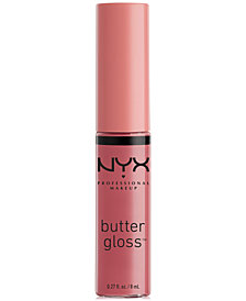 NYX Professional Makeup Butter Lip Gloss, 0.27-oz.