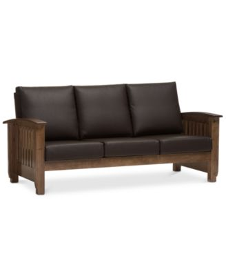 Charlotte Faux Leather Sofa, Quick Ship