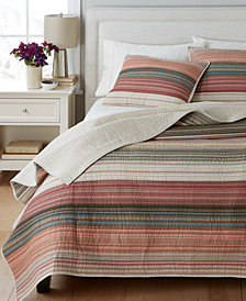 Martha Stewart Collection  100% Cotton Desert Rock Reversible Quilt and Sham Collection  100% Cotton, Created for Macy's