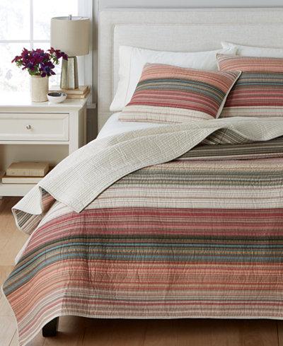 Martha Stewart Collection 100% Cotton Desert Rock Reversible Quilt ... : macys bedding quilts - Adamdwight.com