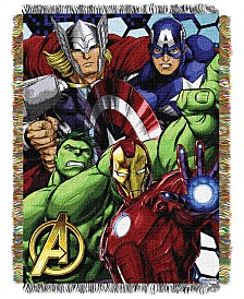 Marvel The Avengers Best Team Triple Woven Tapestry Throw