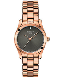 Tissot Women's Swiss T-Wave ll Rose Gold-Tone Stainless Steel Bracelet Watch 30mm